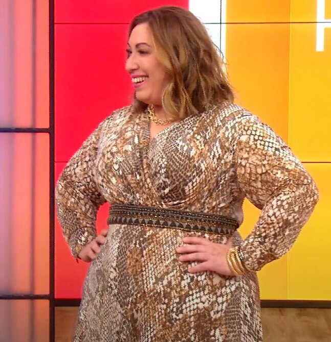 Преображение Джейми, похудевшей на 100 кг - Платье со змеиным принтом