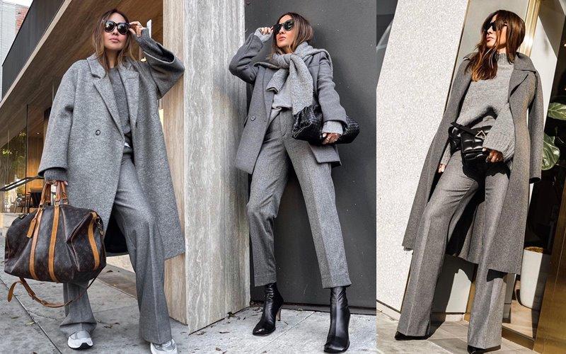 Оттенки серого на осень: 10 образов от американской модницы Саши Симон