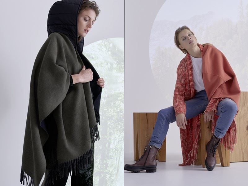 Модный трикотаж: Marc Cain осень-зима 2021-2022 - Оверсайз и бахрома