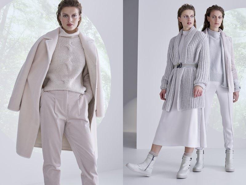 Модный трикотаж: Marc Cain осень-зима 2021-2022 - Элегантный осенний монохром со свитерами и кардиганами