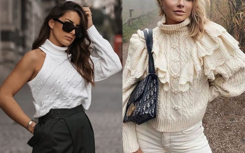 Женственный трикотаж: 10 необычных свитеров и вязаных топов на осень 2021 с Aliexpress
