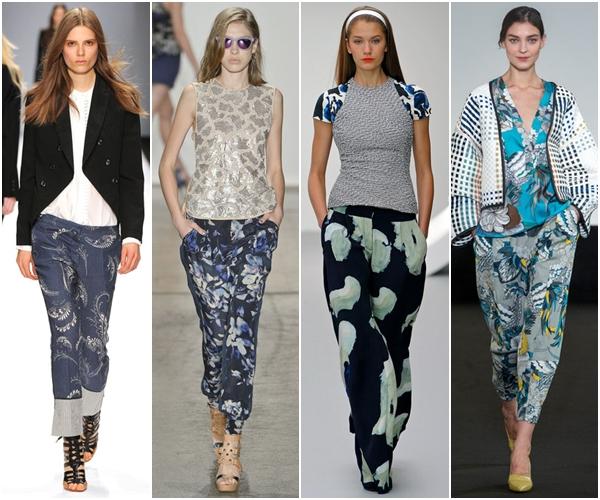 Женские брюки 2013: с принтом
