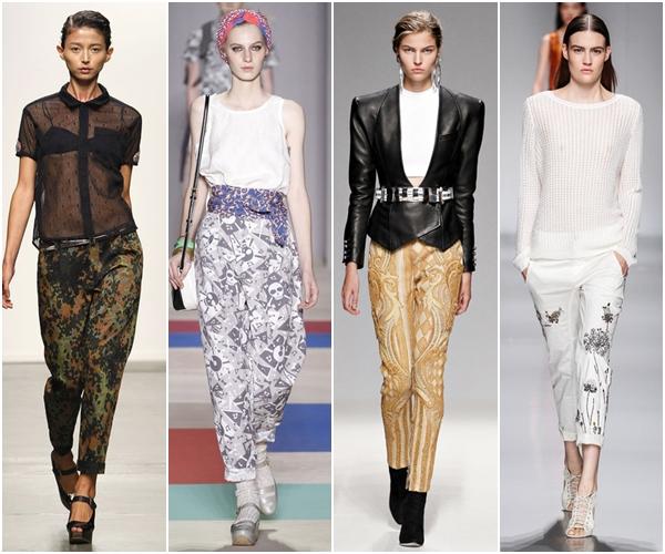 Женские брюки 2013: брюки с принтом
