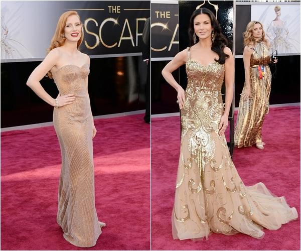 Лучшие платья Оскара 2013 Джессика Честейн, Кэтрин Зета-Джонс