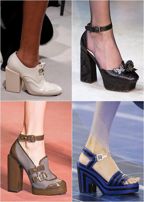 обувь весна-лето 2013 массивный квадратный устойчивый каблук