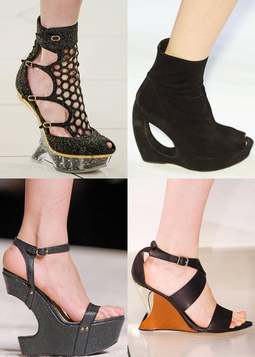 обувь весна-лето 2013 танкетка в стиле леди гага