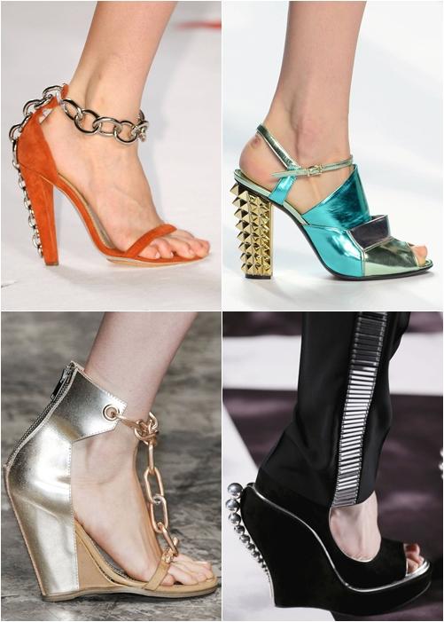 обувь весна-лето 2013 обувь шипы, цепи