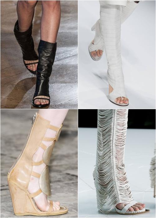 Модная обувь весна-лето 2013 летние сапоги