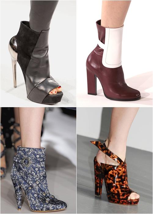 Модная обувь весна-лето 2013 летние ботильоны