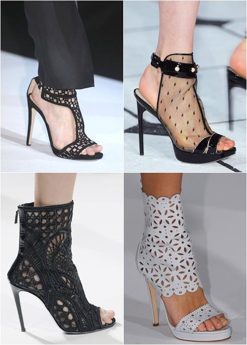 обувь весна-лето 2013: кружевные туфли