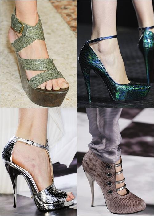 обувь весна-лето 2013: экзотическая кожа