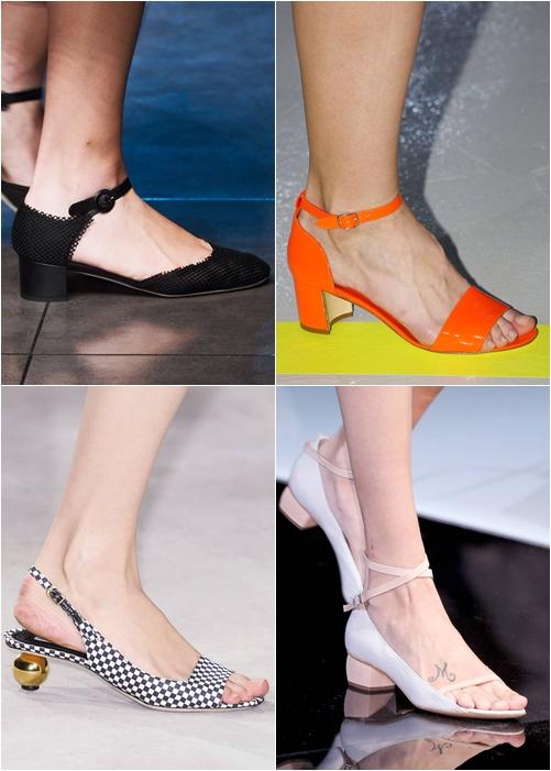 обувь весна-лето 2013: босоножки на низком ходу