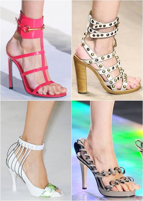 обувь весна-лето 2013: босоножки с тонкими ремешками
