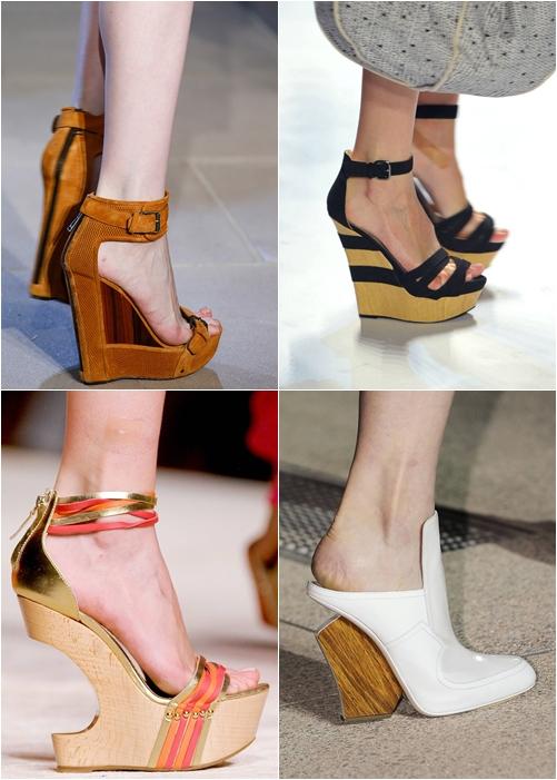 обувь весна-лето 2013 деревянные каблуки и платформы