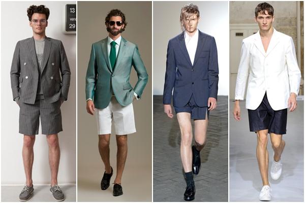 Мужская мода весна-лето 2013: шорты с пиджаком