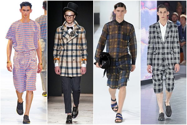 Мужская мода весна-лето 2013: клетчатые ткани