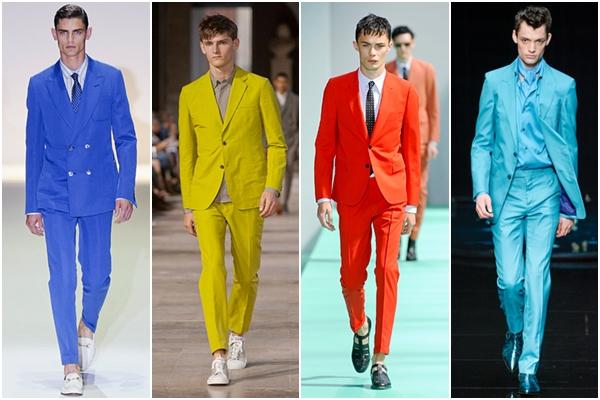 Мужская мода весна-лето 2013 костюмы яркие
