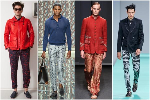 Мужская мода весна-лето 2013 брюки с принтом