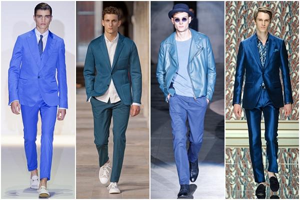 Мужская мода весна-лето 2013 оттенки синего