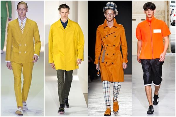 Мужская мода весна-лето 2013 желтый и оранжевый