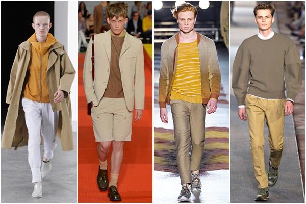 Мужская мода весна-лето 2013 теплые оттенки коричневый хаки