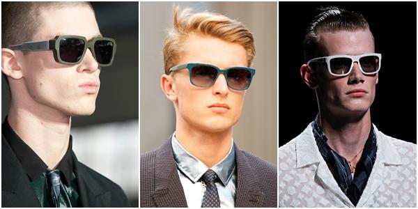 Мужские очки весна-лето 2013 пластиковая контрастная оправа