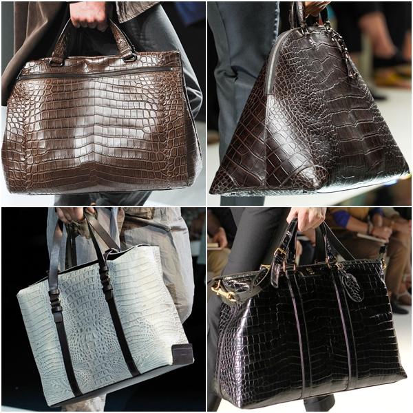 Мужские сумки 2013 крокодиловая кожа