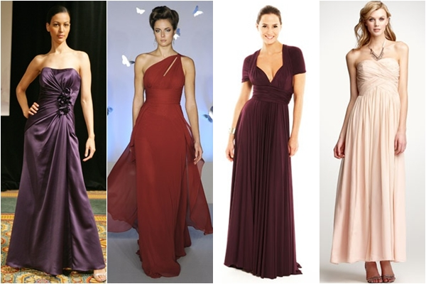 Платья подружки невесты 2013 длинные