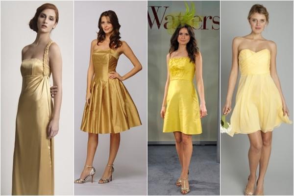 Платья подружки невесты 2013 золотые