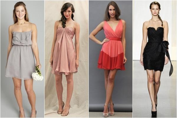 Платья подружки невесты 2013 короткие