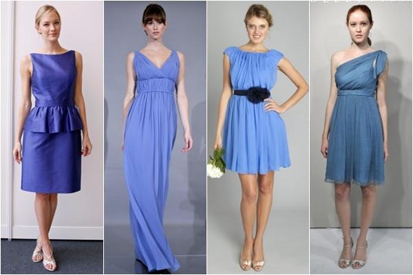 Платья подружки невесты 2013 синие