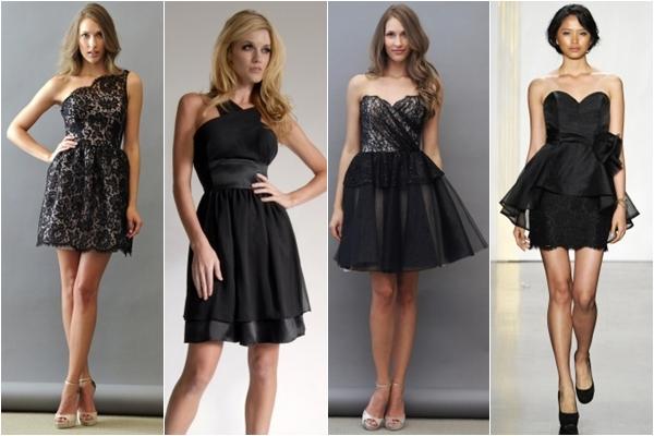 Платья подружки невесты 2013 черные