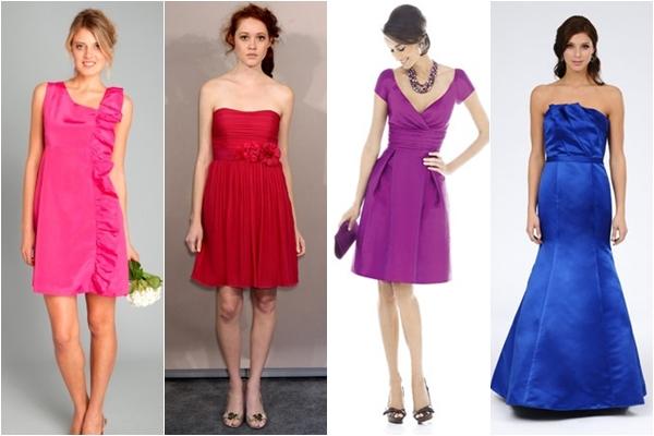 Платья подружки невесты 2013 яркие
