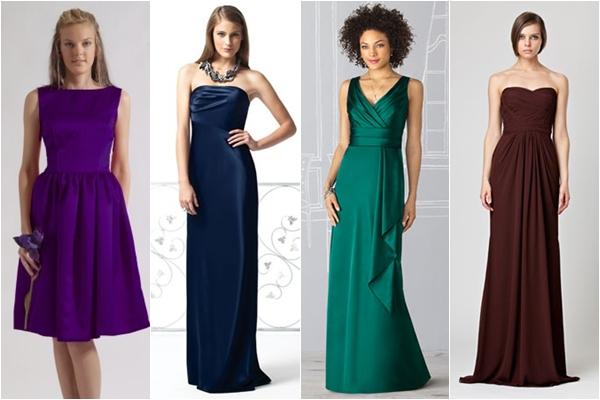Платья подружки невесты 2013  благородные оттенки