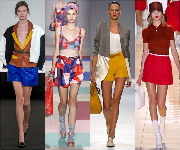 шорты 2013, весна лето, яркие цвета