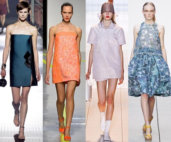 Стильные платья 2013 - без талии