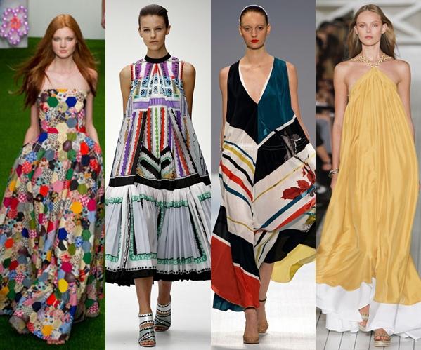 Стильные платья 2013 длинные летние
