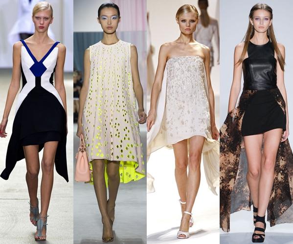 Стильные платья 2013 хай лоу