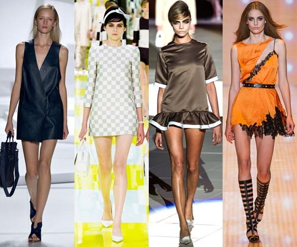 Стильные платья 2013 короткие мини