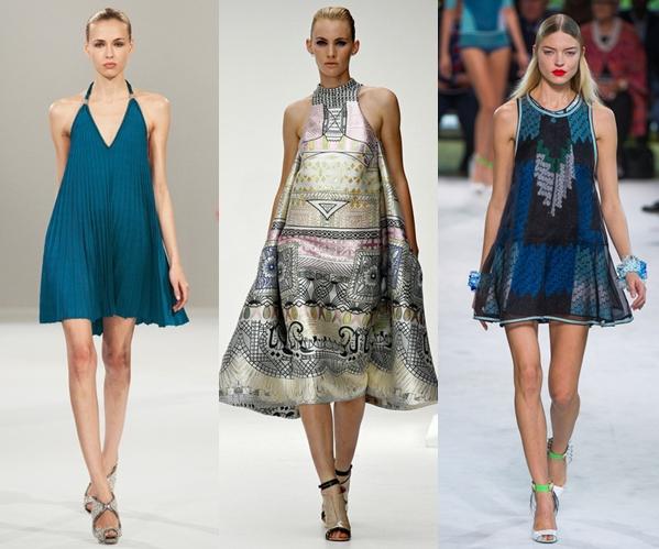 Стильные платья 2013 трапеция