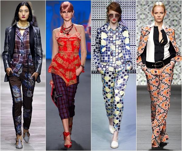 Весна-лето 2013 модные тенденции сочетание принтов