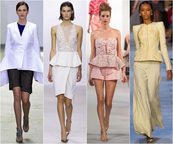 Весна-лето 2013 модные тенденции топы с баской