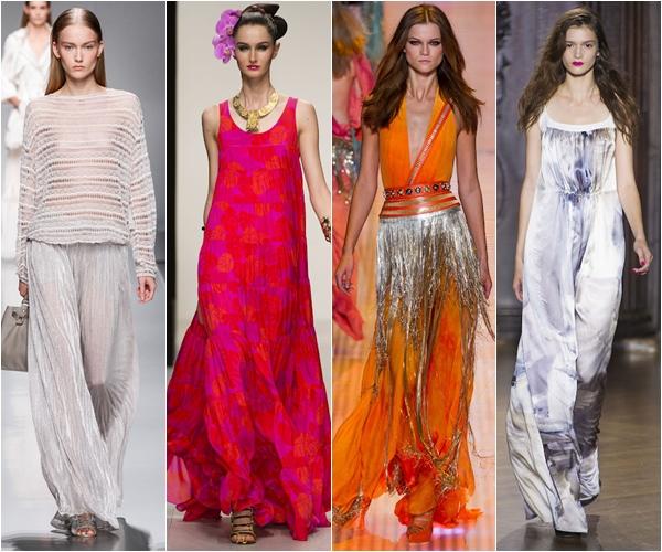 Весна-лето 2013 модные тенденции струящиеся ткани