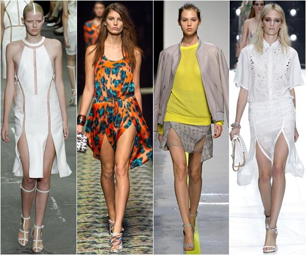 Весна-лето 2013 модные тенденции юбки с разрезами