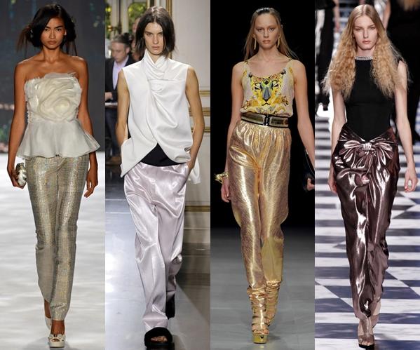 Женские брюки 2013: блестящие