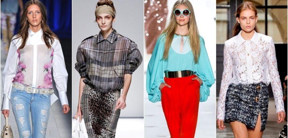 Блузки и рубашки 2013: модное кружево и белоснежная строгость