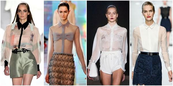 блузки 2013 прозрачные модели