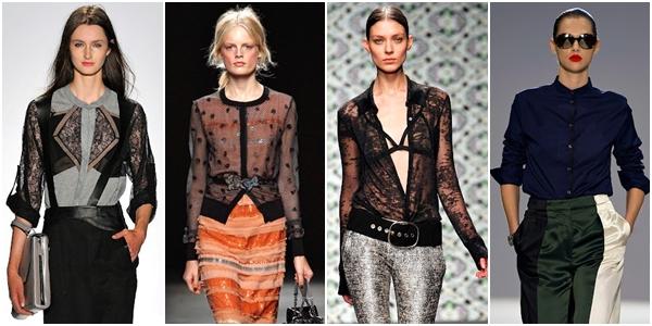 блузки 2013 черные, фиолетовые