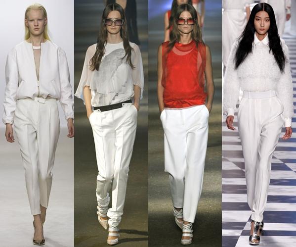 женские брюки 2013: классические белые