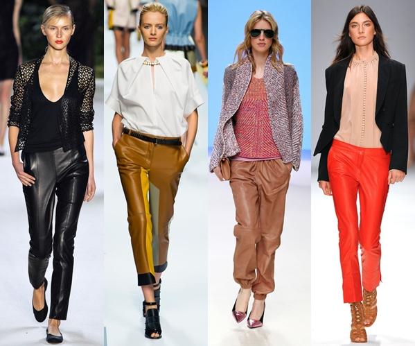 Женские брюки 2013: кожаные